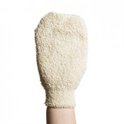 Cotton Hammam Scrub Glove, White